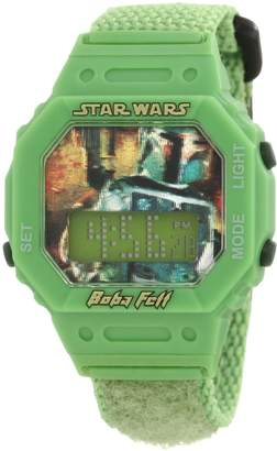 Lego Star Wars Kids' 9005909 Star Wars Boba Fett Digital Wrap Strap Watch