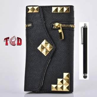 THE CASE DOCTOR GET YOUR CASE LIFT WITH THE CASE DOCTOR TCD iPhone 4 4S Premium Gold Studded PU Leather Wallet with Credit Card Slots +
