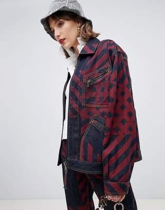 Vivienne Westwood check print coach jacket