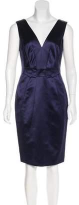 Versace V-Neck Knee-Length Dress