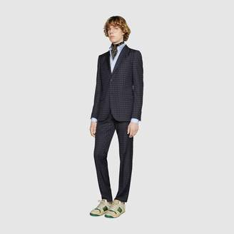 Gucci Monaco G dot wool suit