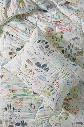 Katie Vernon Wilderness Map Toddler Sham