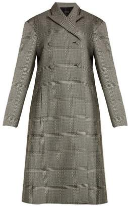 Ellery - Bel Air Checked Double Breasted Wool Coat - Womens - Black White