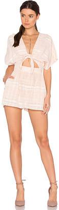 Mara Hoffman Tie Front Romper in Pink $195 thestylecure.com