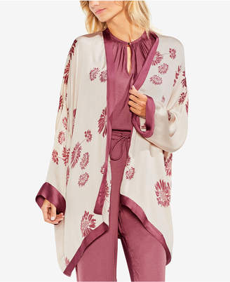 Vince Camuto Chateau Sketch Floral-Print Cardigan