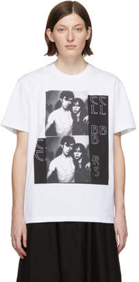 Raf Simons White Couple Slim Fit T-Shirt