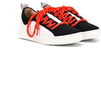 Lanvin Enfant colour block sneakers