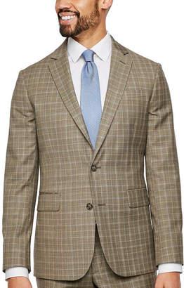 STAFFORD Stafford Plaid Slim Fit Stretch Suit Jacket