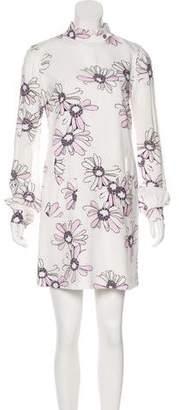Giamba Floral Print Mini Dress