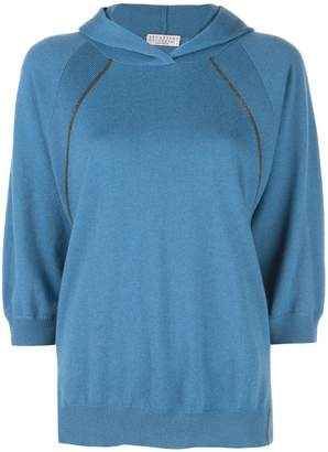 Brunello Cucinelli hooded cashmere jumper