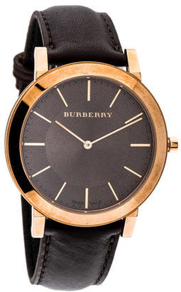 Burberry Slim Watch $245 thestylecure.com
