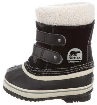 Sorel Girls' Shearling-Trimmed Sow Boots