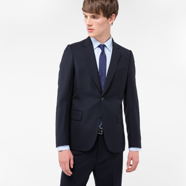 Paul Smith A Suit To Travel In - Men's Tailored-Fit Navy Wool Blazer