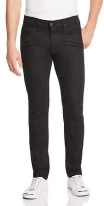 Hudson Blinder Biker Super Slim Fit Jeans in Raw Black