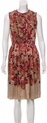 Etro Floral Ruffle-Trimmed Dress