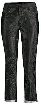 J Brand Women's Ruby High-Rise Organza Cropped Cigarette Pants