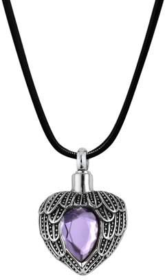 Keepsake Anavia Angels Heart Birthstone Cremation Jewelry Memorial Necklace June with Gift Box
