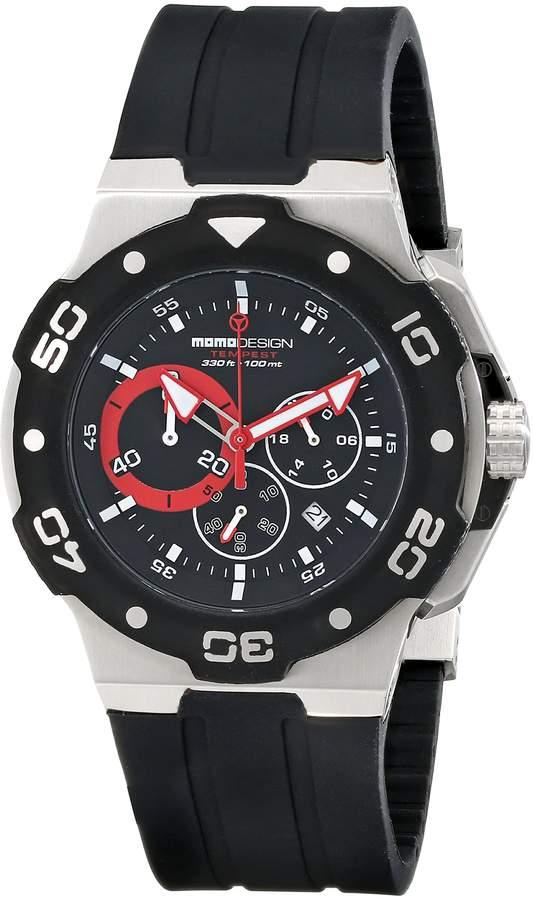 MOMO Design Men's Tempest MD1004BK-01BKRD-RB Analog Display Swiss Quartz Watch