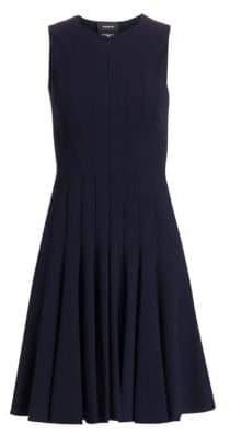 Akris Zipper-Accented Wool Dress