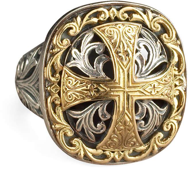 Konstantino Square Cross Ring
