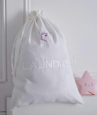 The Fine Cotton Company Unicorn Personalised Laundry And Hairdryer Bags