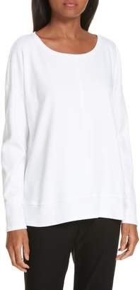 Eileen Fisher Boxy Organic Cotton Knit Top