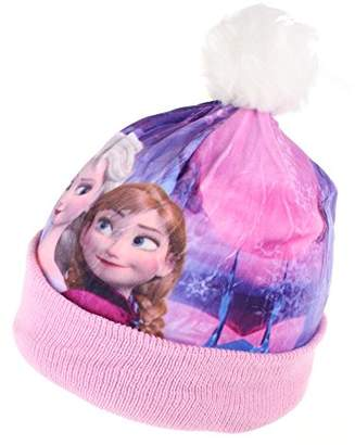 Disney Frozen Girl's Sisters Hat, ( Pnk), X-Small (Manufacturer Size: 3-4 Years)