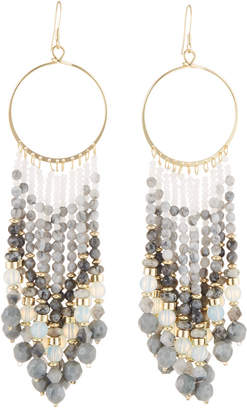 Lydell NYC Chandelier Beaded Tassel Earrings
