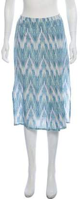 Reiss Printed Pleated Knee-Length Skirt