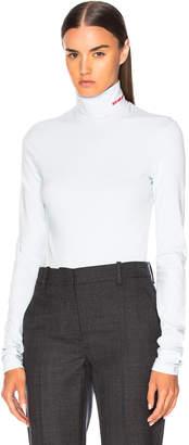 Calvin Klein Stretch Cotton Jersey Turtleneck