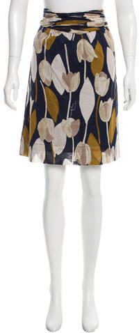 Tory BurchTory Burch Patterned Knee-Length Skirt