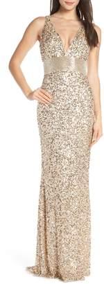 Mac Duggal Beaded Waist Evening Dress