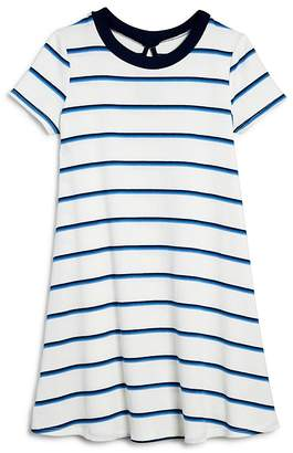 Aqua Girls' Striped & Ribbed T-Shirt Dress, Big Kid - 100% Exclusive