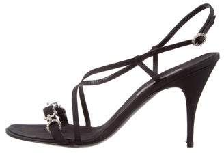 Alberta Ferretti Embellished Ankle Strap Sandals