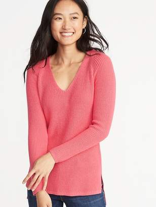 Old Navy Shaker-Stitch V-Neck Sweater for Women