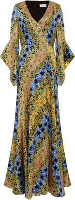 Peter Pilotto Floral-Print Silk Maxi Dress
