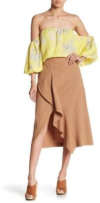 Lush Asymmetrical Hem Skirt