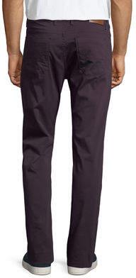 Bugatchi Five-Pocket Straight-Leg Solid Jeans