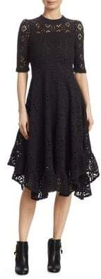 See by Chloe Lace Jersey Midi Dress