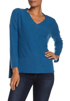 GRIFFEN CASHMERE Boyfriend V-Neck Sweater