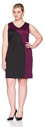 Ellen Tracy Women's Plus Size Scuba Dress
