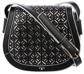 Tory Burch Leather Cutout Flap Bag