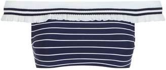 Jonathan Simkhai Knit Trim Bandeau Bikini Top