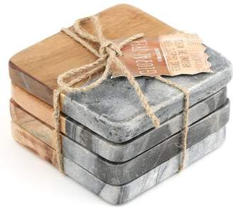 Mint Pantry Acacia Wood / Marble Coaster