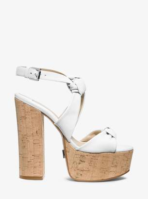 Michael Kors Cecily Calf Leather Platform Sandals