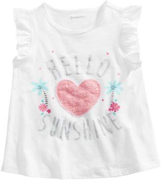 First Impressions Baby Girl's Hello Sunshine Graphic Cotton Top