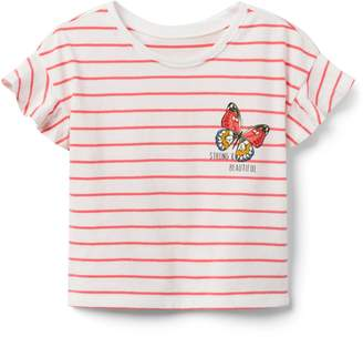 Crazy 8 Crazy8 Stripe Butterfly Tee