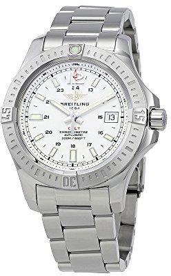 Breitling コルト41シルバーダイヤルステンレススチールメンズ腕時計a1731311-g820ss