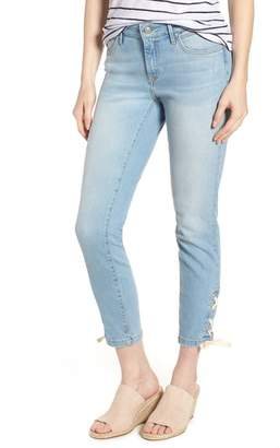 Mavi Jeans Adriana Laced Ankle Skinny Jeans (Bleach Summer Lace)
