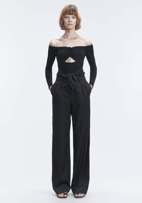 Alexander Wang LONG SLEEVE RUCHED BODYSUIT
